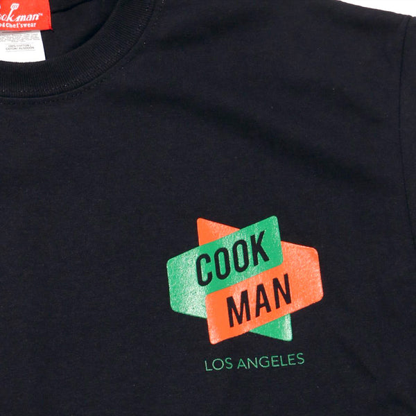 Cookman T-shirts - BURGER - Black