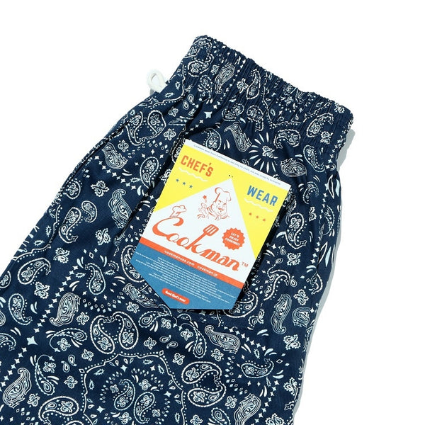 Cookman Chef Pants - Paisley : Navy