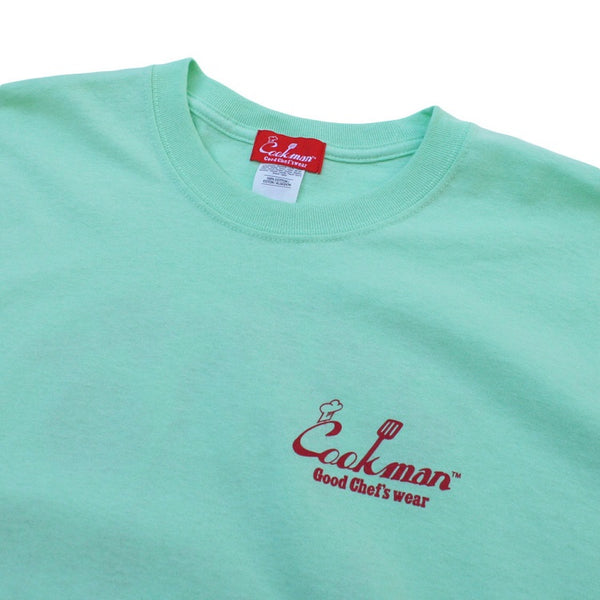 Cookman T-shirts - TM-006-Pizza - Mint Green