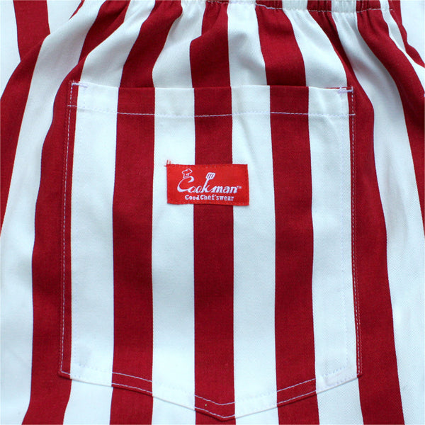 Cookman Chef Pants - Wide Stripe Red