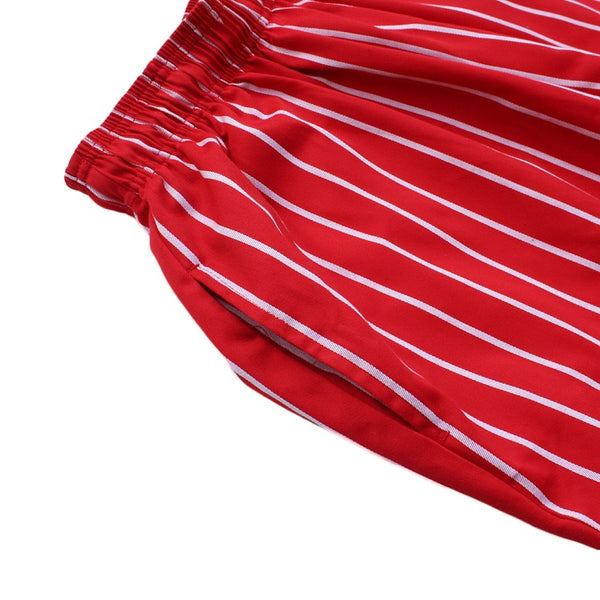 Cookman Chef Pants - Pinstripe Red