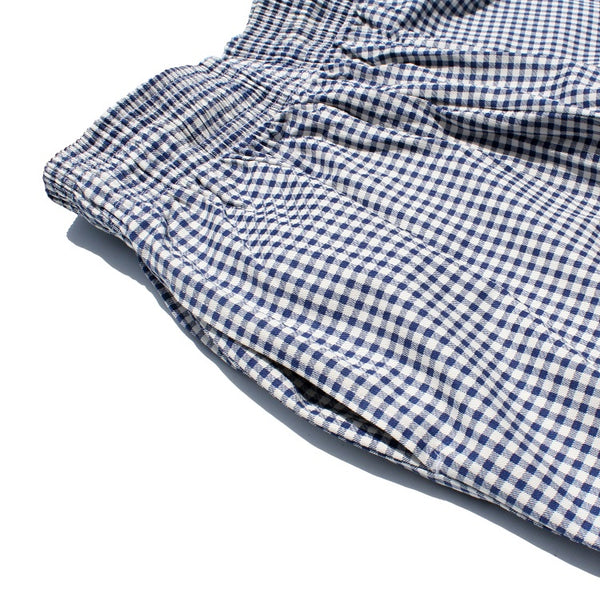Cookman Chef Short Pants - Gingham : Navy