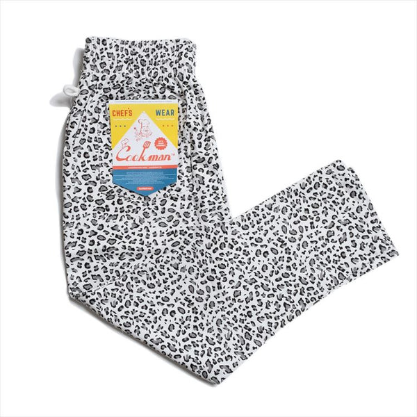 Cookman Chef Pants - Snow Leopard