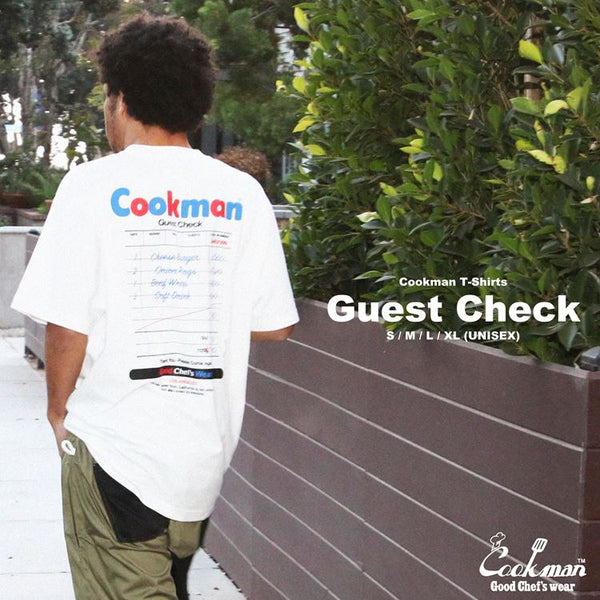 Cookman T-shirts - Guest Check - White