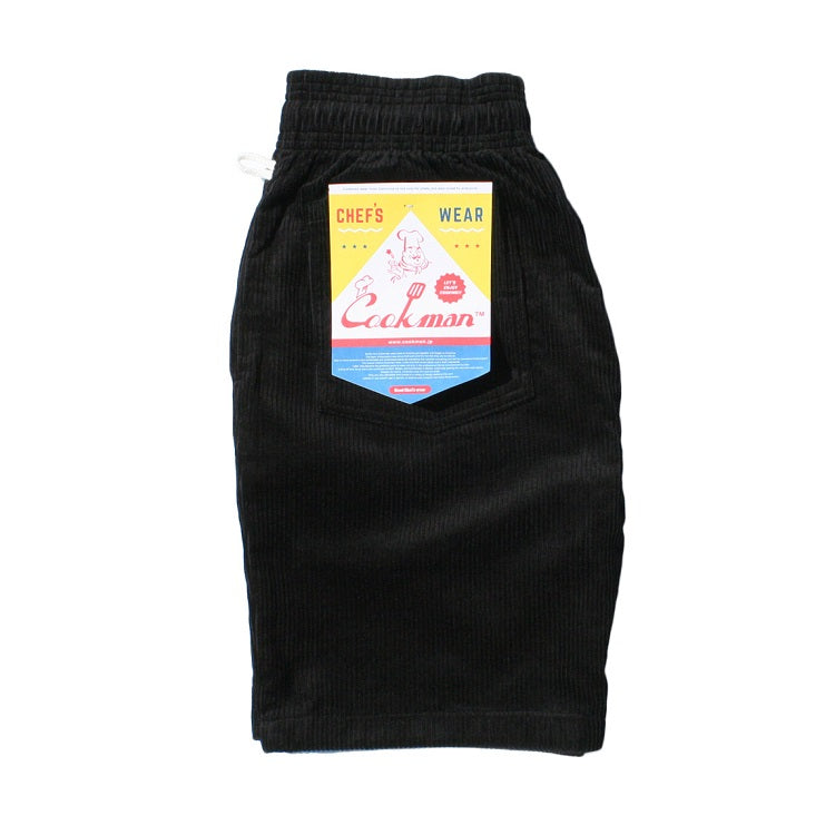 Cookman Chef Short Pants - Corduroy : Black