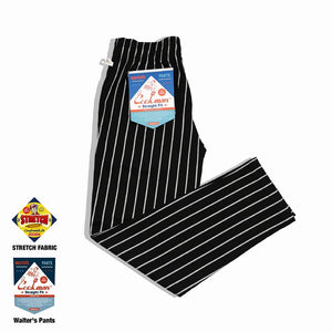 Cookman Waiter's Pants (stretch) - Stripe : Black