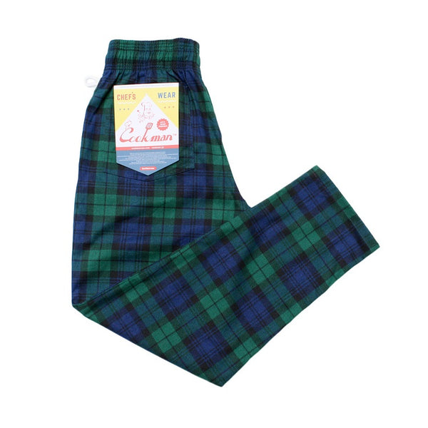 Cookman Chef Pants - Black Watch Plaid