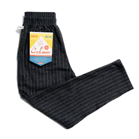 Cookman Chef Pants - Wool Mix Stripe : Gray
