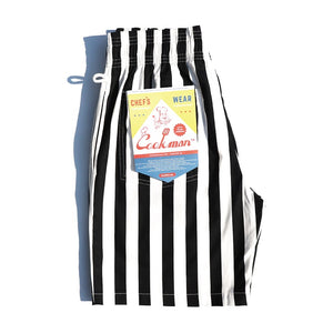 Cookman Chef Short Pants - Wide Stripe : Black