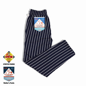 Cookman Waiter's Pants (stretch) - Stripe : Navy