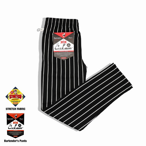 Cookman Bartender's Pants - Stripe : Black