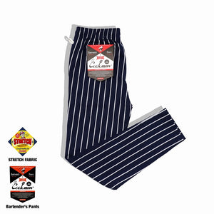 Cookman Bartender's Pants - Stripe : Navy