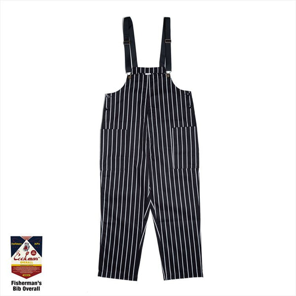 Fisherman's Bib Overall - Stripe : Black