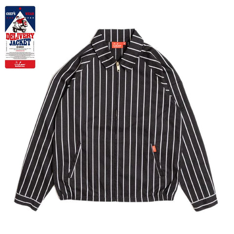 Cookman Delivery Jacket - Stripe : Black