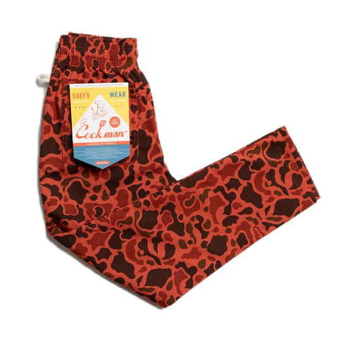 Cookman Chef Pants - Ripstop : Camo Red (Duck Hunter)