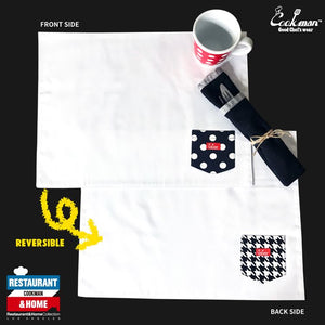 Pocket Placemat (Reversible) - Chidori & Dots