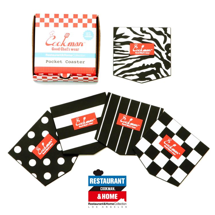 Pocket Coasters (Set of 5) - Black & White