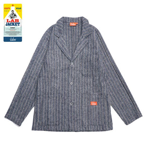 Cookman Lab Jacket - Wool Mix Stripe : Light Gray