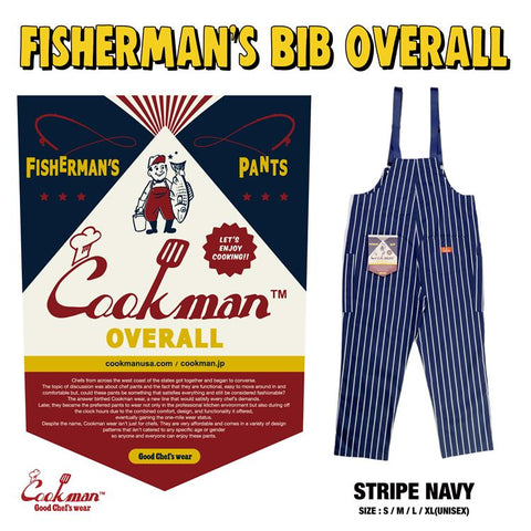 Fisherman's Bib Overall - Stripe : Navy