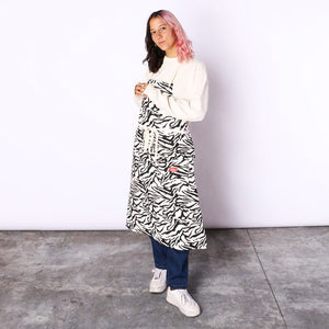 Cookman Long Apron - Zebra