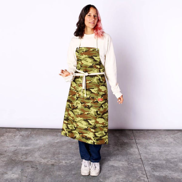 Cookman Long Apron - Ripstop : Camo Green (Woodland)