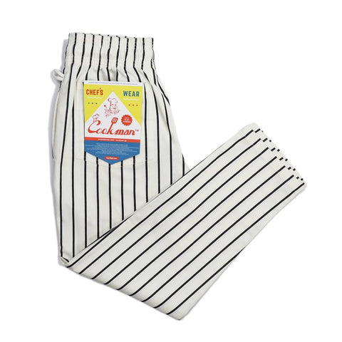 Cookman Chef Pants : Stripe - White x Black