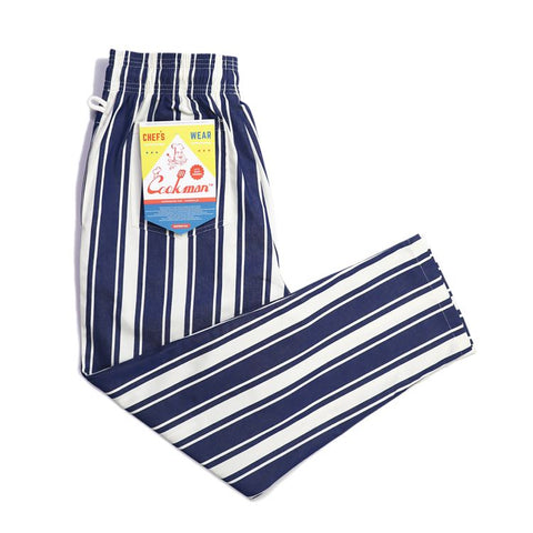 Cookman Chef Pants : Awning Stripe - Navy