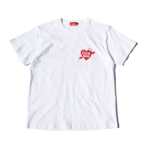 Cookman T-shirts - Heart - White