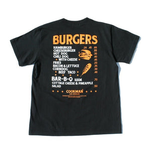 Cookman T-shirts - Burgers Menu - Black