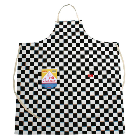 Cookman Long Apron - Checker