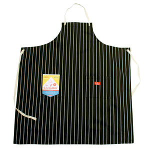 Cookman Long Apron - Stripe : Black