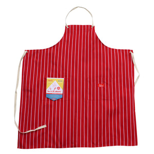Cookman Long Apron - Stripe : Red