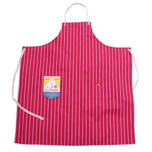 Cookman Long Apron - Stripe : Pink