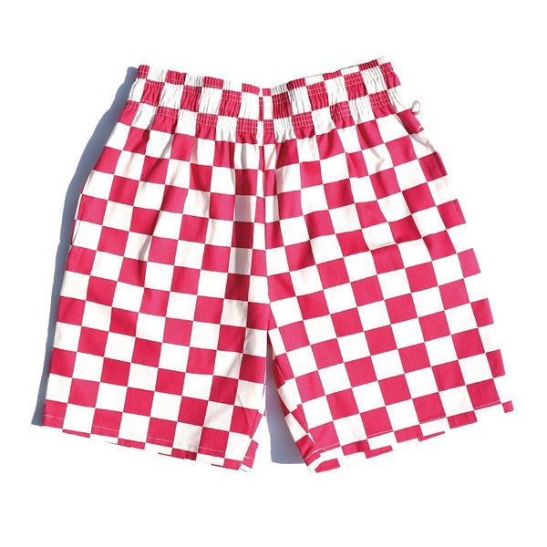 Cookman Chef Short Pants - Checker : Pink