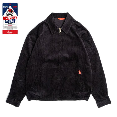 Cookman Delivery Jacket - Corduroy : Black