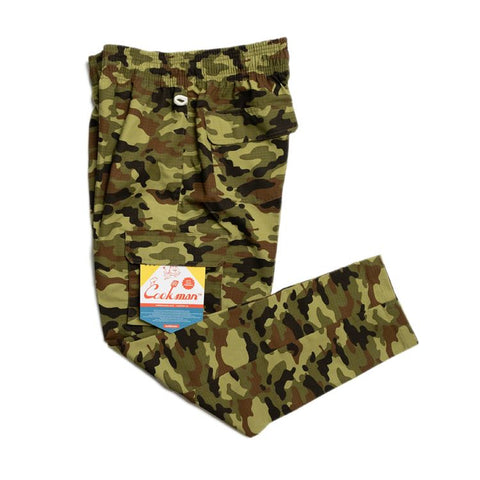 Cookman Chef Cargo Pants - Ripstop : Camo Green (Woodland)