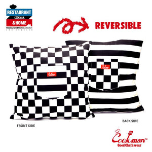 Pocket Cushion Cover (Reversible) - Checker & Border