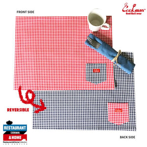 Pocket Placemat (Reversible) - Gingham Red & Navy