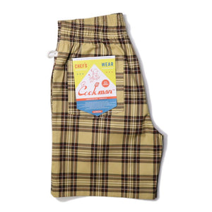 Cookman Chef Short Pants - Tartan Beige