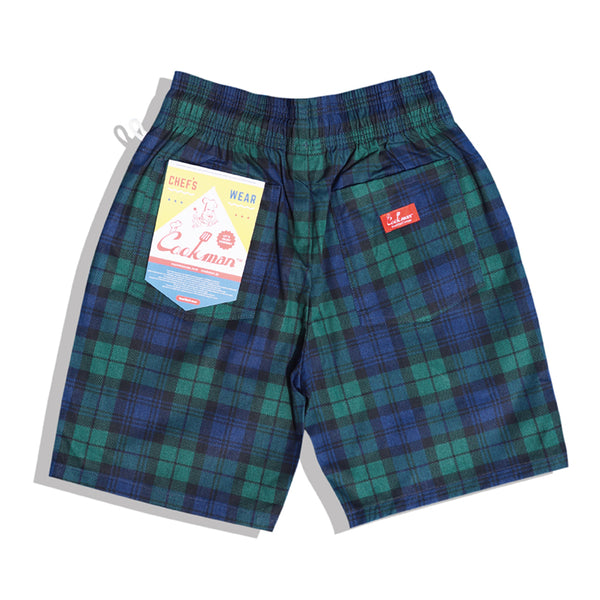 Cookman Chef Short Pants - Black Watch Plaid