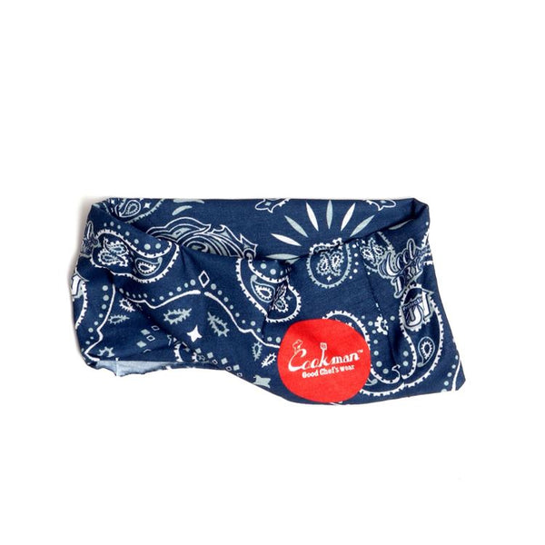 Chef's Scarf - Paisley : Navy