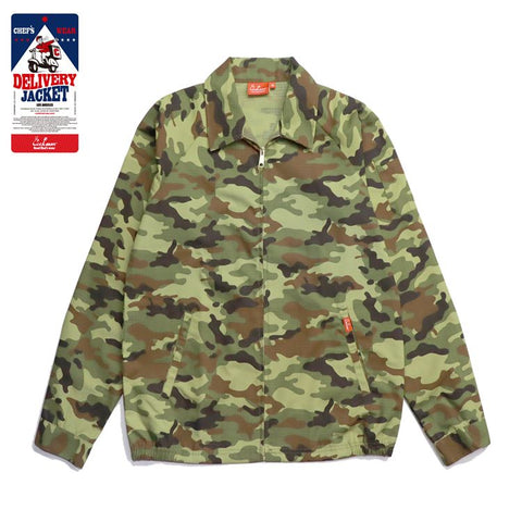 Cookman Delivery Jacket - Ripstop : Camo Green (Woodland)