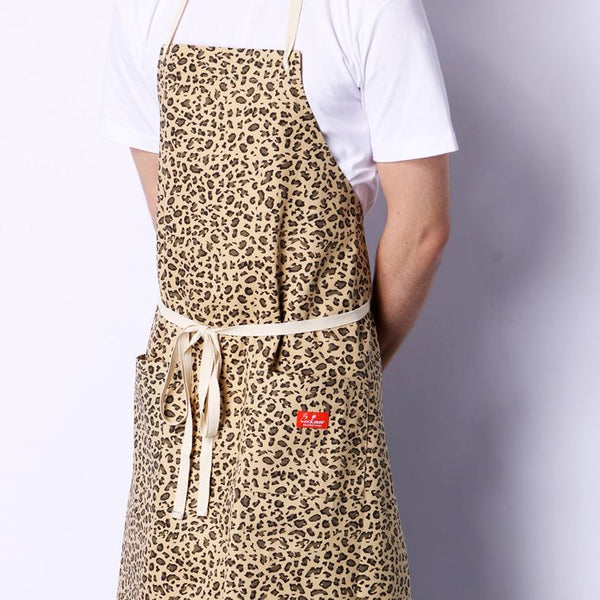 Cookman Long Apron - Leopard