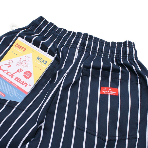 Cookman Chef Short Pants - Stripe : Navy