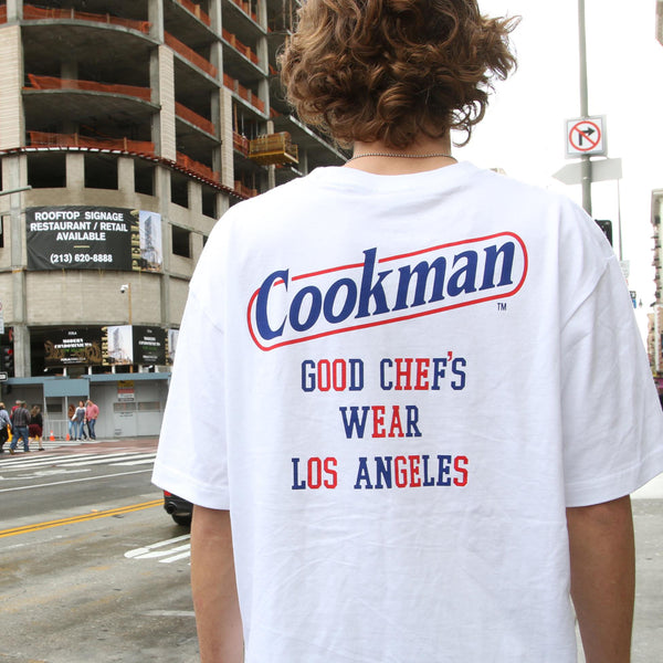 Cookman T-shirts - Tape logo - White