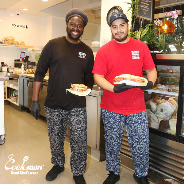 Cookman Chef Pants - Paisley : Black