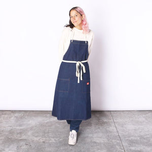 Cookman Long Apron - Denim : Navy