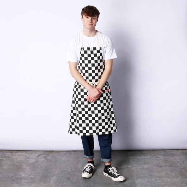 Cookman Long Apron - Checker : Black