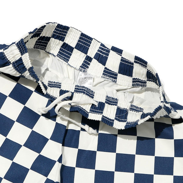 Cookman Chef Short Pants - Checker : Navy