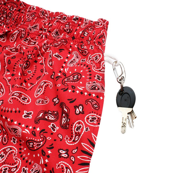 Cookman Chef Short Pants - Paisley : Red